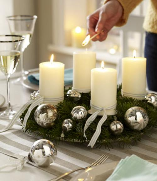 Tips decoraci n navidad decorar con velas esta navidad for Centro de mesa navideno manualidades