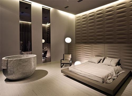 diseno banera marmol elegancia lujo 2 Diseño de Bañera Circular de Mármol, Elegancia y Lujo