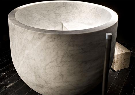 diseno banera marmol elegancia lujo 3 Diseño de Bañera Circular de Mármol, Elegancia y Lujo