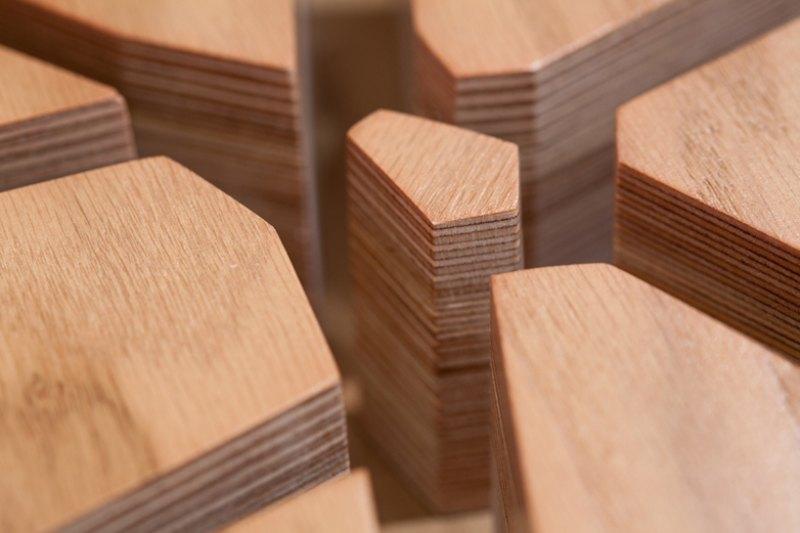 diseño en madera tridimensional