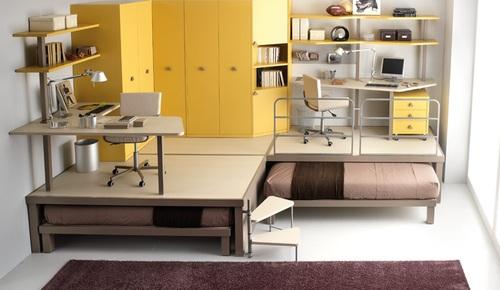 dormitorios infantiles con muebles modernos
