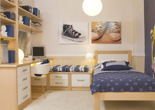 Dormitorios juveniles muebles modernos con color y estilo for Muebles dormitorio modernos