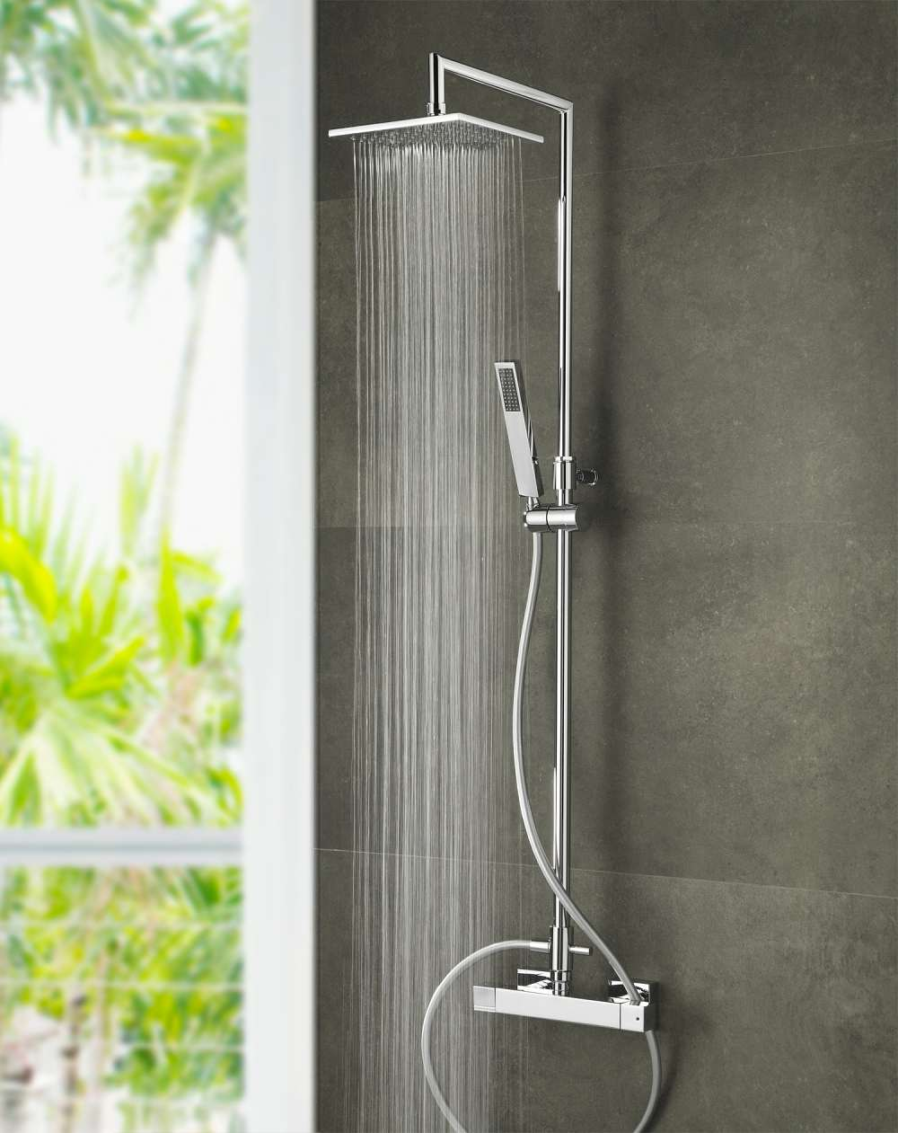 ducha de gran tamaño