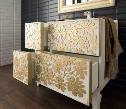 Mueble Baño Original:Muebles De Bano Con Decoracion Floral Muebles De Baño Con Decoración