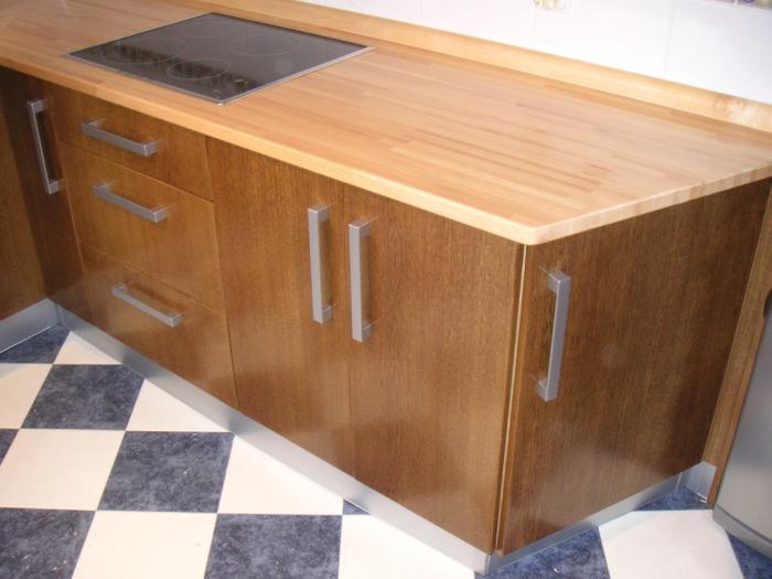 Encimera de cocina tipos de encimeras - Encimeras madera cocina ...