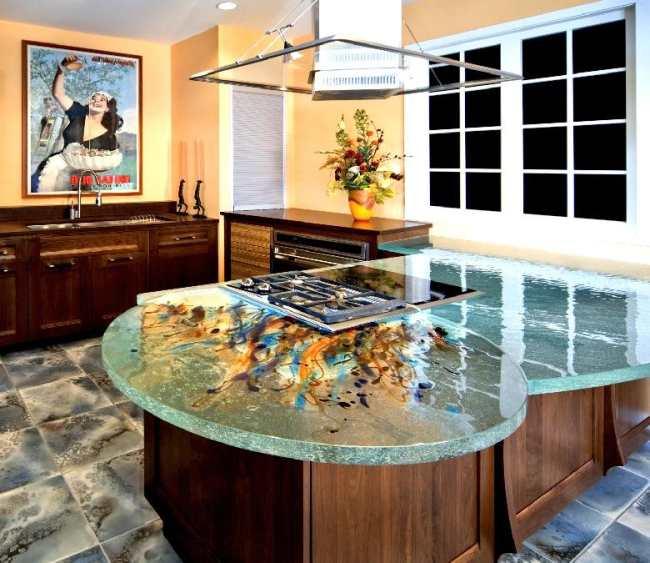 Encimeras de cristal dise o creativo y funcionalidad en la cocina - Encimeras de cocina de cristal ...