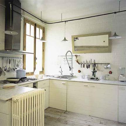 espejos en cocinas pequeñas