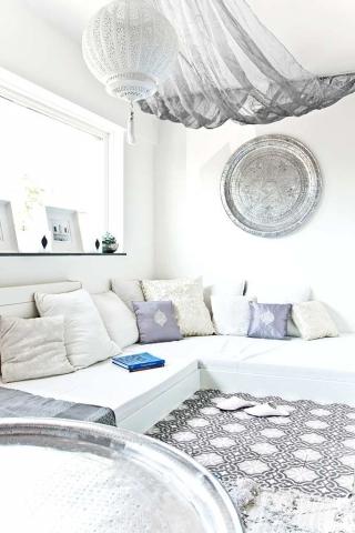Casa de Inspiración Marroquie en Blanco Puro