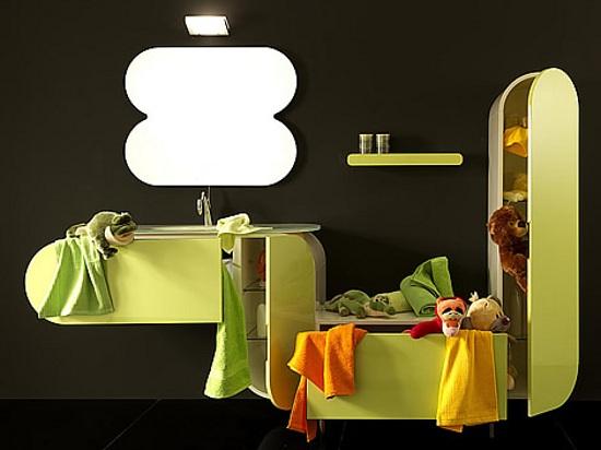 Set De Baño Originales:Flux, Muebles de Baño de Diseño con Color y Curvas