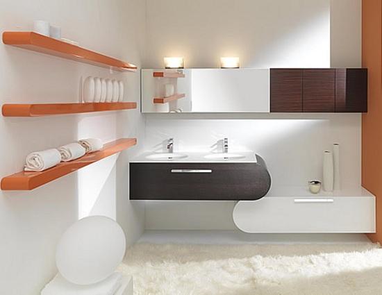 Estantes Para Baño Economicas:Flux, Muebles de Baño de Diseño con Color y Curvas
