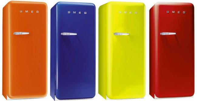frigorifico retro color smeg Frigoríficos Retro y de Color Smeg