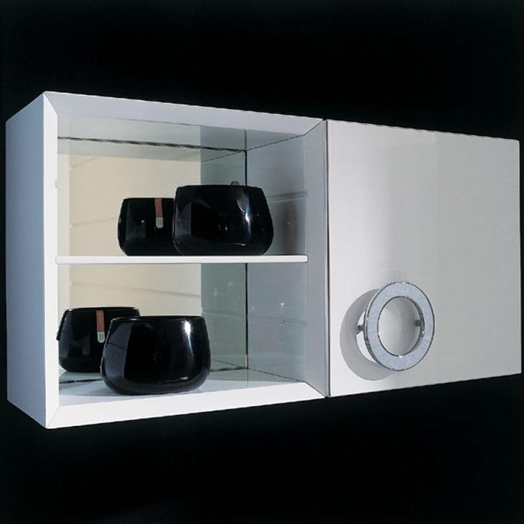 Gabinetes Para Baños Modernos:gabinete con estanteria incorporada gabinetes espejo y lavabo