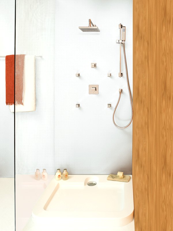 Moderna grifer a encastrada para ducha - Griferia moderna para banos ...