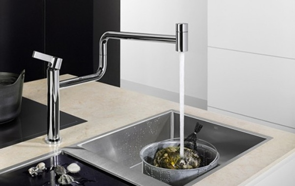 Pivot grifo de cocina minimalista y flexible - Grifos de cocina de pared ...