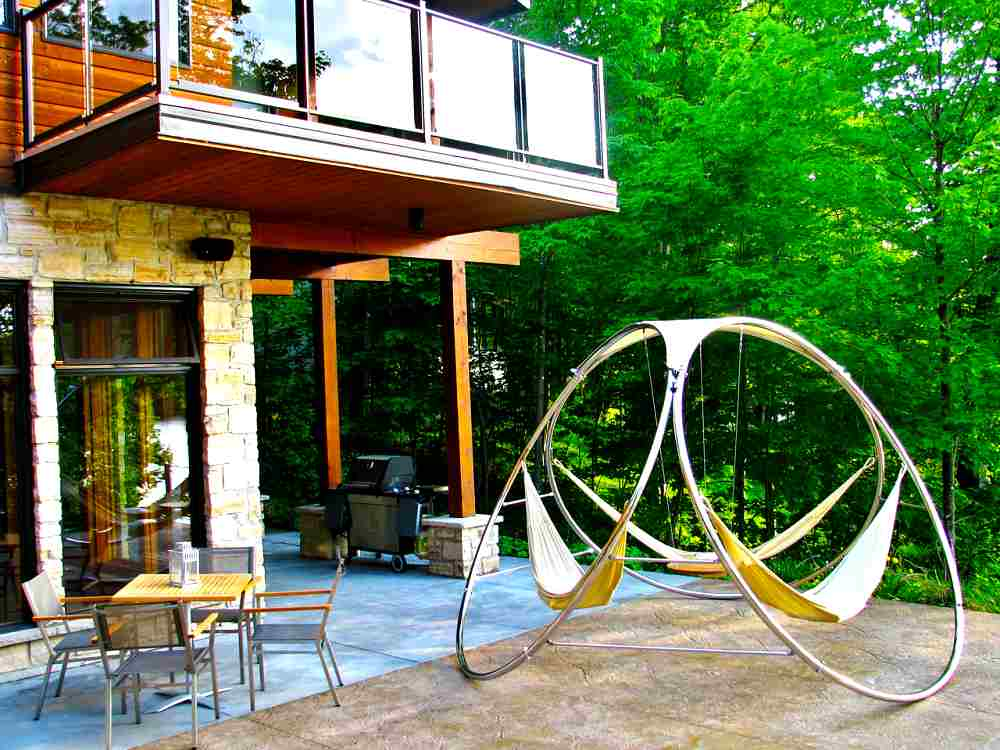 Novedosos muebles de exterior hamaca triple - Estructura hamaca ...