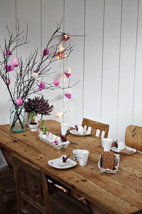 Ideas para la decoraci n de mesas en pascua for Decoracion de pascua