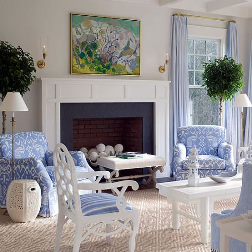 Ideas para decorar con telas interiores actuales - Decorar pared con tela ...