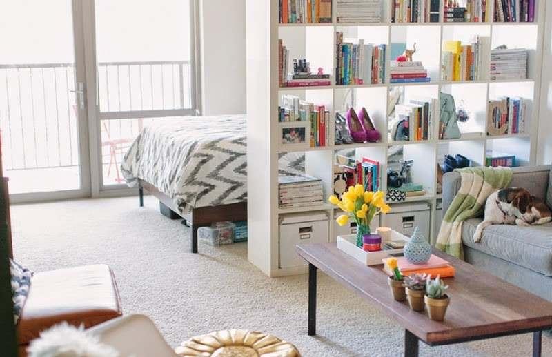 Espacios peque os estanter a decorativa y funcional - Ideas espacios pequenos ...