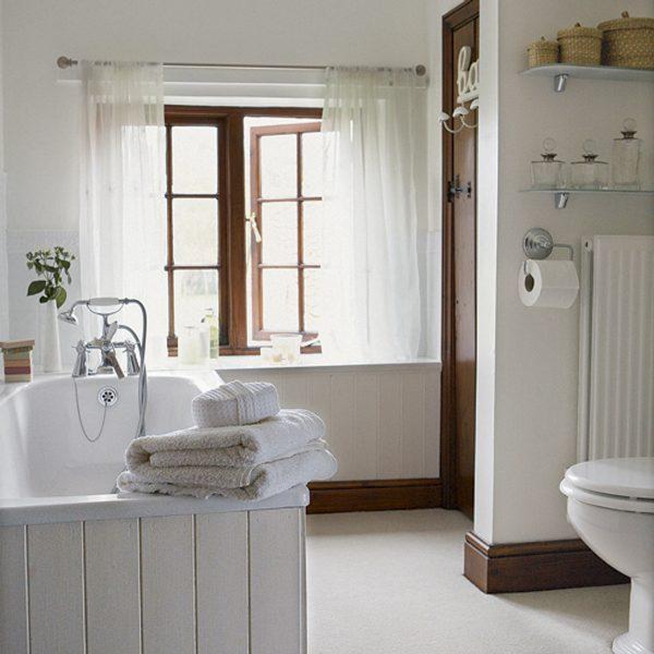 English Country Bathroom Designs: Ideas Que Renuevan El Cuarto De Baño