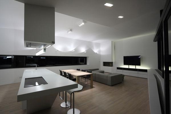 Vivienda familiar de dise o minimalista en blanco y negro - Casa minimalista interior ...