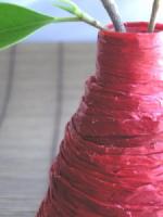 jarron cubierto Jarrones hechos con Botellas Recicladas