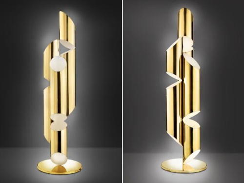 lampara-pie-diseno-bronce-pulido