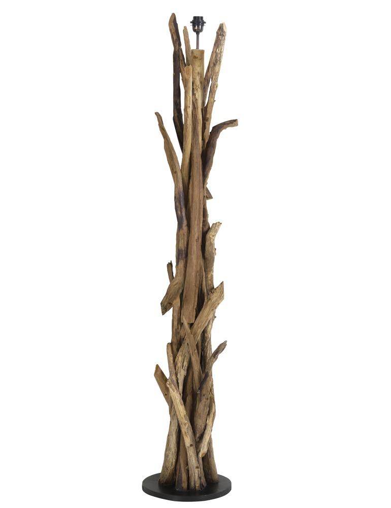 lámpara de pie de diseño original y rústico