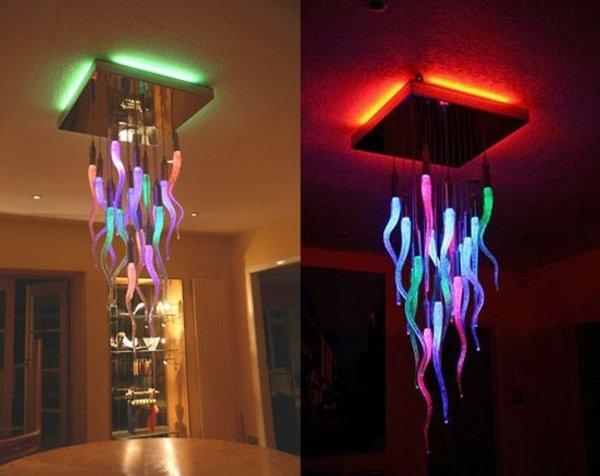 lamparas colgantes colores cambiantes 2 Lámpara Colgante que Cambia de Color
