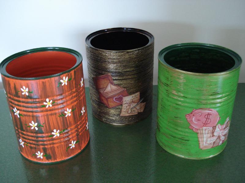 Reciclado de envases: Tiestos con latas