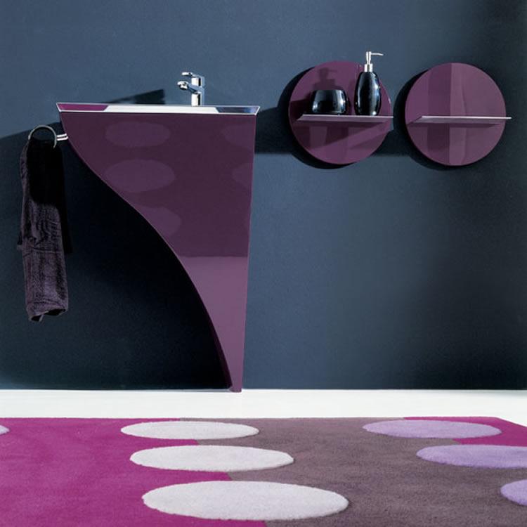 Moderno mobiliario para ba os peque os for Accesorios para banos pequenos modernos