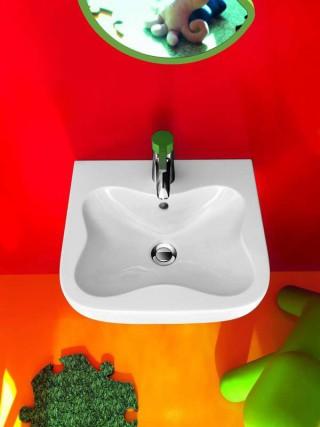 lavabo con forma de flor