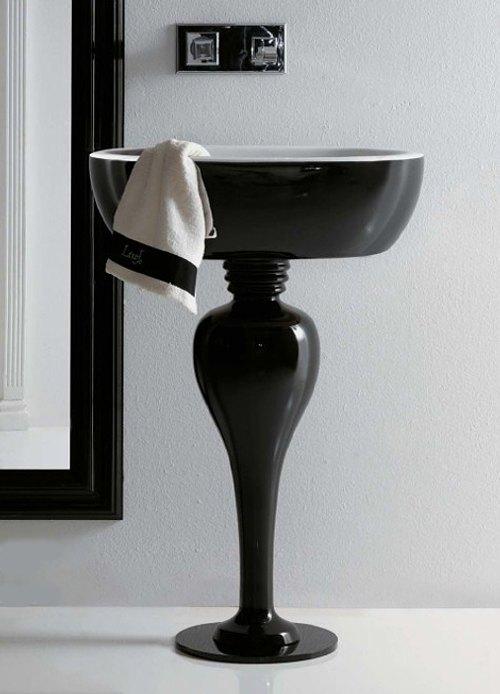 Lavabos Para Baño Con Pedestal:Lavabo y Pedestal Estilizados para Baños Actuales