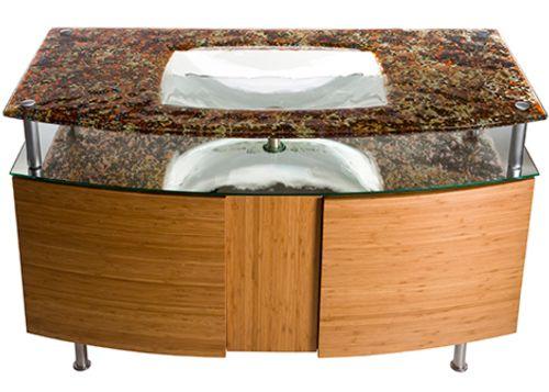 lavabos de cristal 2 Lavabo Integrado de Cristal