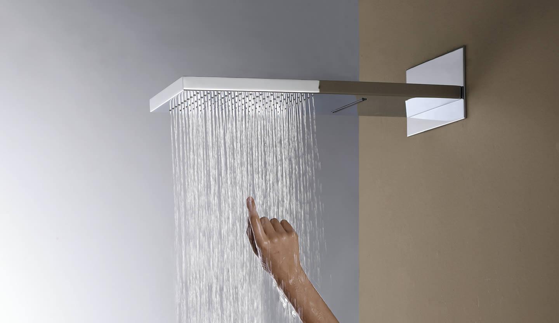 Doble ducha lluvia y cascada for Ducha lluvia