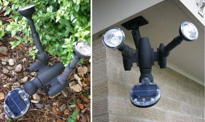 Luces led solares y con control remoto para exterior for Luces de navidad solares para exterior