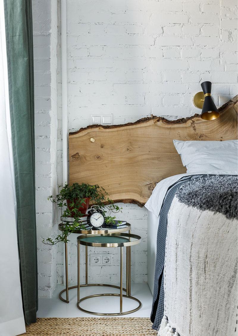 madera rústica en el dormitorio