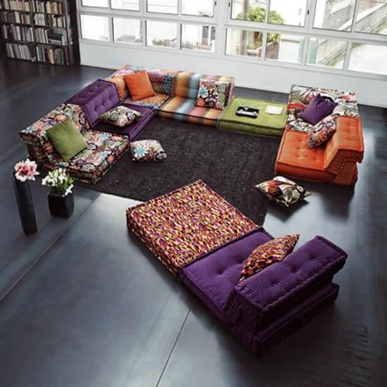 Mah jong un sof modular y a ras de suelo for Mah jong sofa