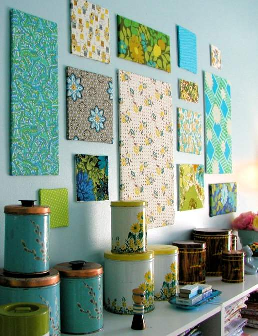Diy con telas para decorar paredes - Telas decorativas para paredes ...
