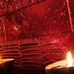 Mosaicos de m rmol travertino en colores metalizados for Marmol travertino rojo