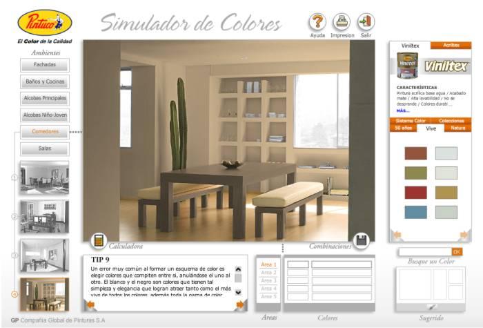 Gama de colores pintuco para interiores imagui for Simulador decoracion interiores