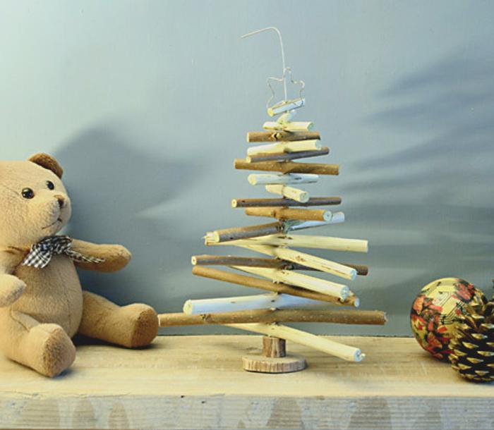 Mini rbol de navidad con ramas naturales - Fabriquer un sapin avec des branches ...