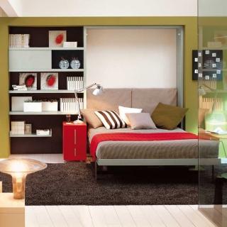 Muebles para ahorrar espacio: Cama y Escritorio Ulisse