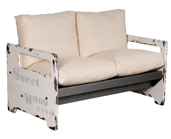 Muebles blancos de inspiraci n industrial for Muebles de efecto industrial