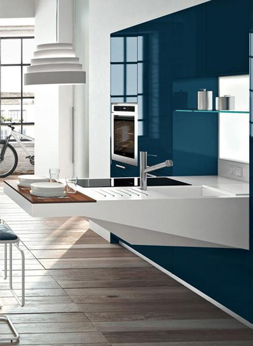 Modernas cocinas de dise o compacto para espacios peque os for Espacios reducidos