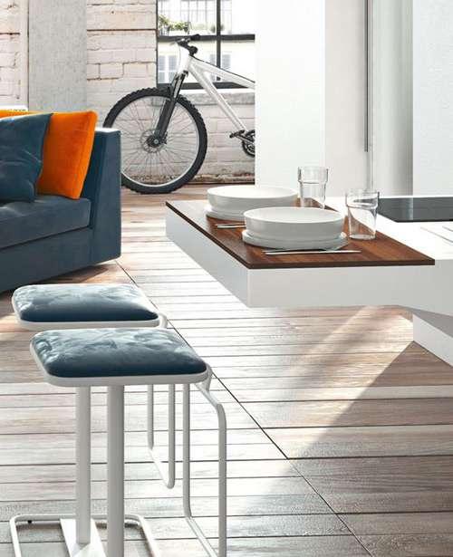 Modernas cocinas de dise o compacto para espacios peque os for Disenos de cocinas en espacios pequenos