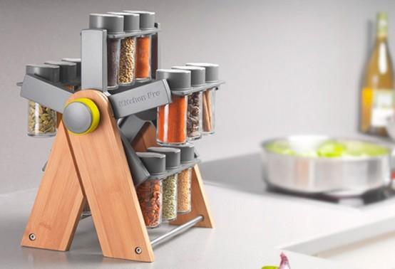 Cocina m s pr ctica con un moderno especiero - Como hacer un especiero ...