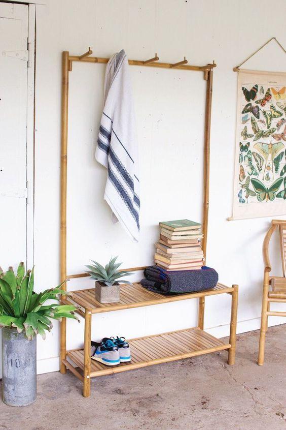 mueble de bambú