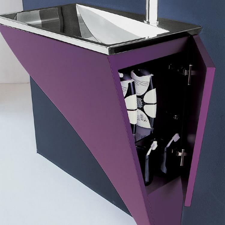 Moderno mobiliario para ba os peque os - Lavabos con mueble pequenos ...