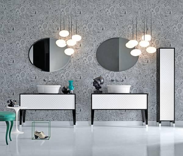 Muebles de ba o atemporales en blanco y negro for Muebles de bano negro