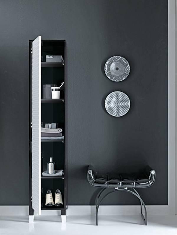 Muebles de ba o atemporales en blanco y negro - Muebles blanco y negro ...